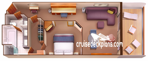Seabourn Encore Penthouse Suite Diagram Layout
