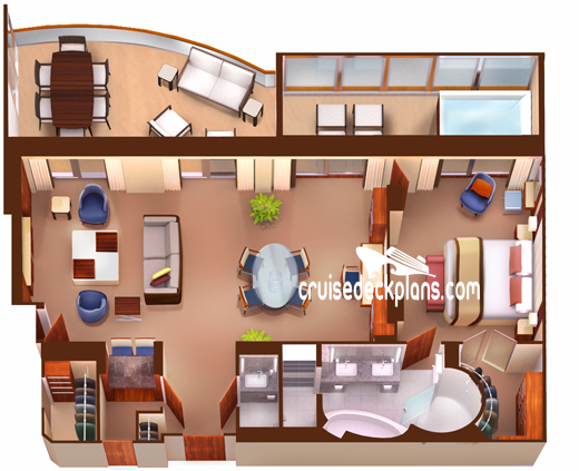 Seabourn Encore Wintergarden Suite Diagram Layout