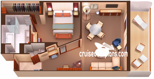 Seabourn Encore Owners Suite Diagram Layout