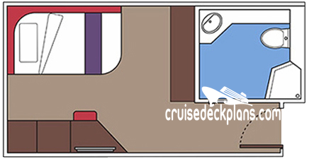 MSC Meraviglia Single Interior Diagram Layout