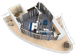Aqua Theater Suite - 1 Bedroom diagram