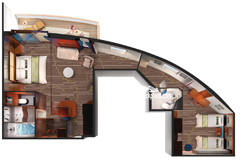 2-Bedroom Deluxe Family Suite diagram