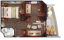 2-Bedroom Family Suite diagram