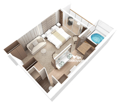 Club Spa Suite diagram
