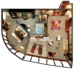 The Haven Owners Suite diagram