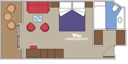 Yacht Club Deluxe Suite diagram