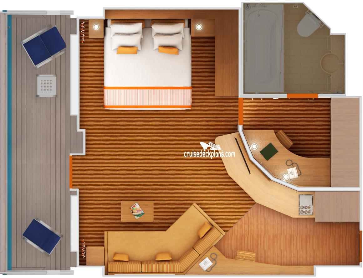 Carnival Sunshine Grand Suite Stateroom