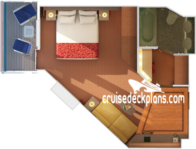 Carnival Triumph Junior Suite Diagram Layout