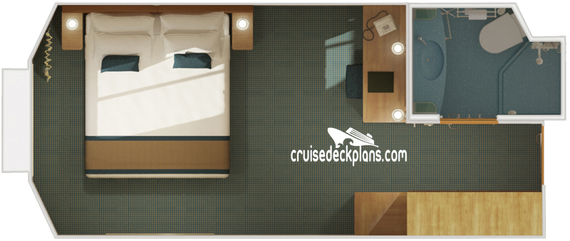 Carnival Dream Interior with Picture Window Diagram Layout