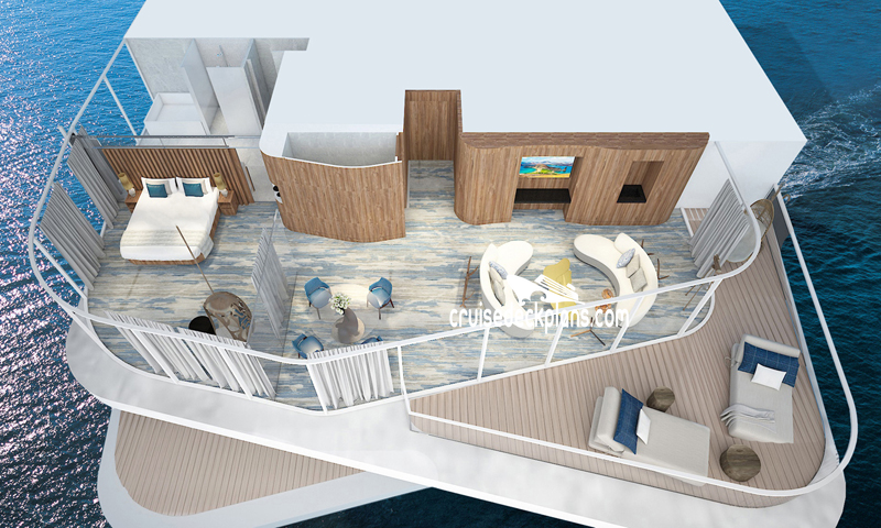 Celebrity Flora Penthouse Suite Diagram Layout