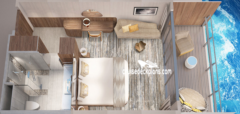 Celebrity Flora Sky Suite Diagram Layout