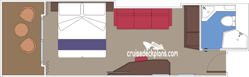 MSC Seaside Balcony Diagram Layout