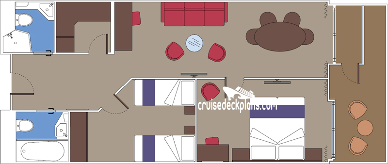 MSC Seaside Grand Suite Diagram Layout