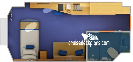 Carnival Sunshine Small Interior Diagram Layout