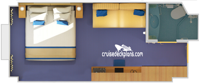 Carnival Sunshine Oceanview Diagram Layout