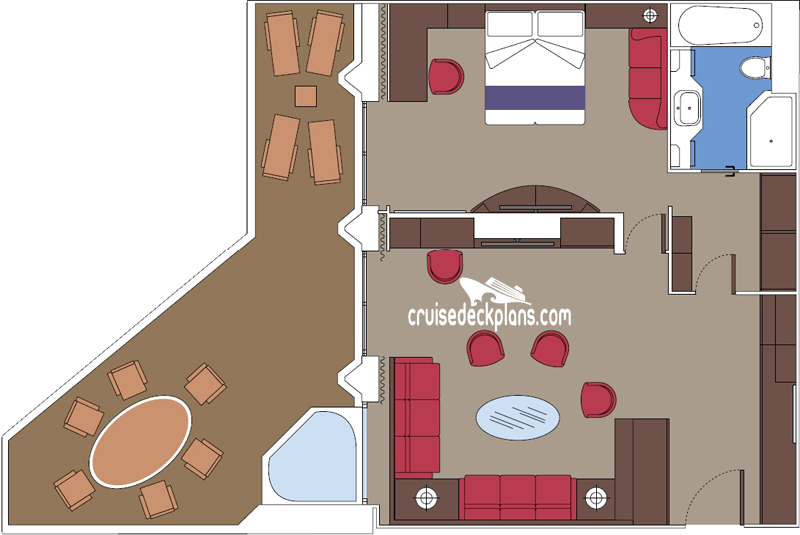 MSC Seaside Yacht Club Royal Suite Diagram Layout