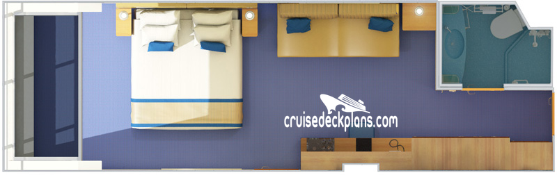 Carnival Sunshine Scenic Oceanview Diagram Layout