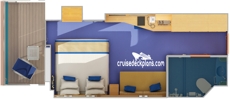 Carnival Sunshine Balcony Diagram Layout
