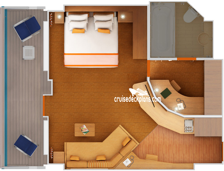 Carnival Sunshine Grand Suite Diagram Layout