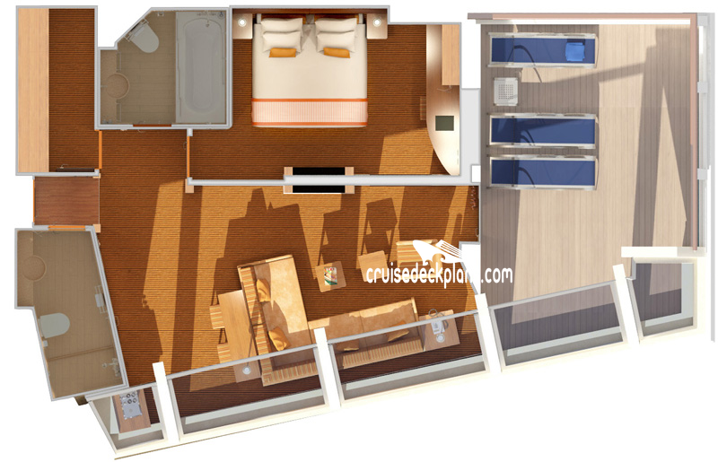 Carnival Sunshine Captains Suite Diagram Layout