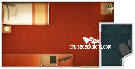 Carnival Glory Small Interior Diagram Layout