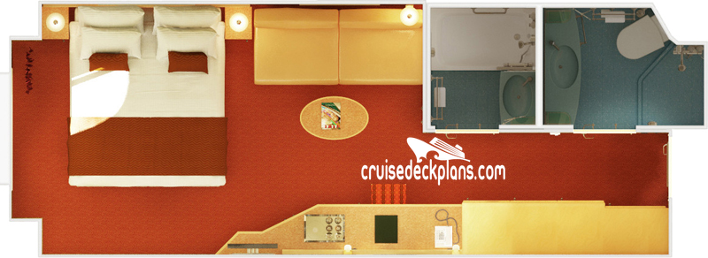 Carnival Magic Deluxe Oceanview Diagram Layout