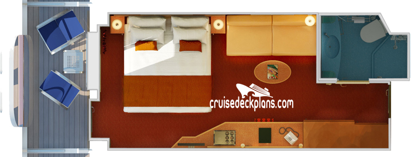 Carnival Magic Cove Balcony Diagram Layout