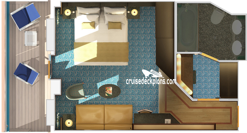 Carnival Magic Ocean Suite Diagram Layout