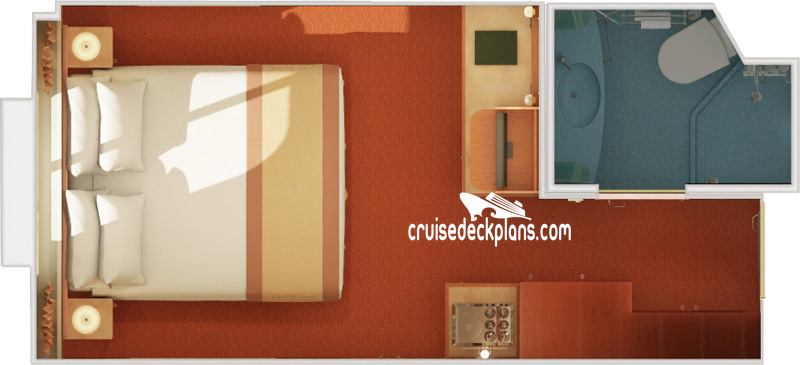 Carnival Glory Interior with Picture Window Diagram Layout