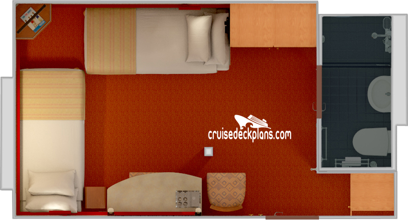 Carnival Ecstasy Deck Plans, Diagrams, Pictures, Video on