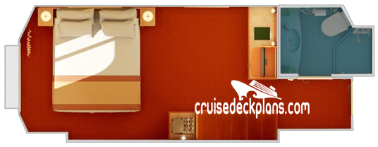 Carnival Glory Oceanview Diagram Layout