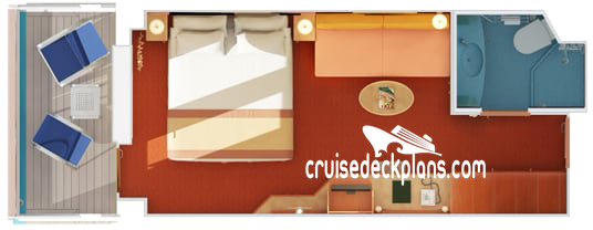 Carnival Glory Balcony Diagram Layout