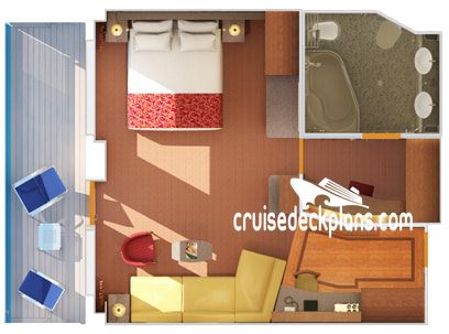 Carnival Glory Grand Suite Diagram Layout