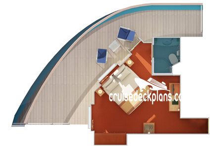 Carnival Radiance Premium Balcony Diagram Layout