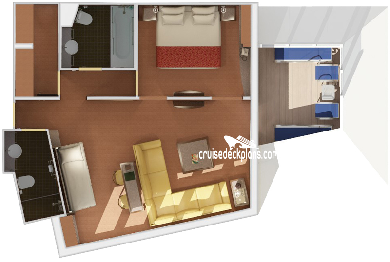 Carnival Liberty Captains Suite Diagram Layout