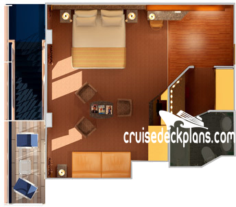 Carnival Spirit Junior Suite Diagram Layout