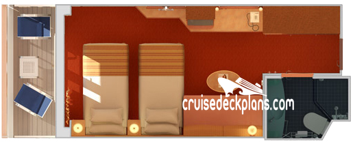 Carnival Spirit Balcony Diagram Layout
