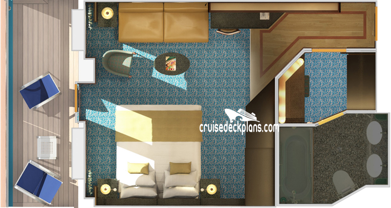 Carnival Splendor Ocean Suite Diagram Layout