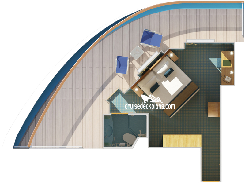 Carnival Magic Premium Balcony Diagram Layout