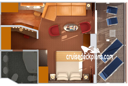 Carnival Spirit Grand Suite Diagram Layout