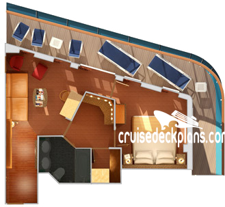Carnival Spirit Vista Suite Diagram Layout