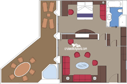 Yacht Club Royal Suite diagram