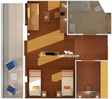 Carnival Dream Ocean Suite Stateroom