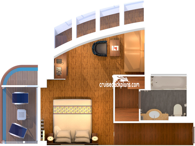 Carnival Paradise Grand Scenic Suite Diagram Layout