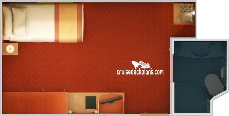 Carnival Valor Small Interior Diagram Layout