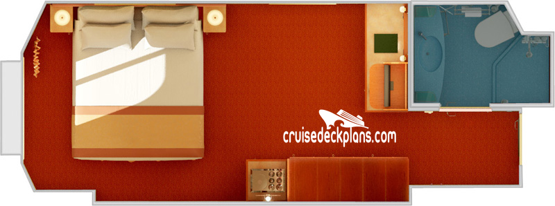 Carnival Valor Oceanview Diagram Layout