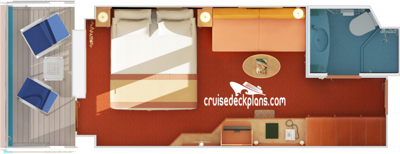 Carnival Valor Balcony Diagram Layout
