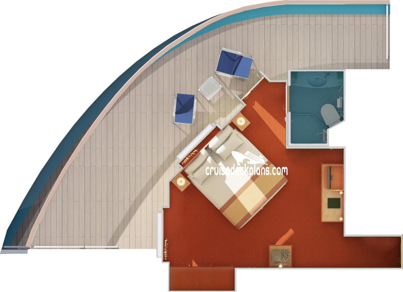 Carnival Valor Premium Balcony Diagram Layout