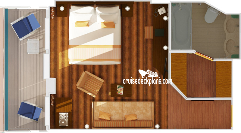 Carnival Valor Ocean Suite Diagram Layout