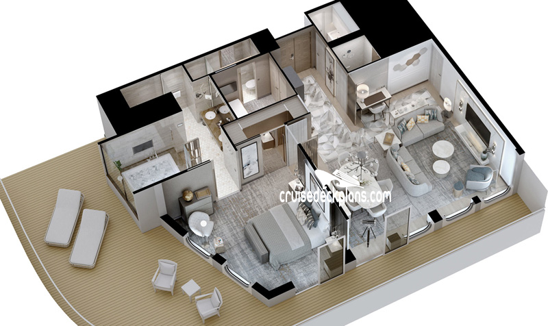 Crystal Endeavor Expedition Penthouse Diagram Layout